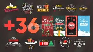 36种新年圣诞标题元素