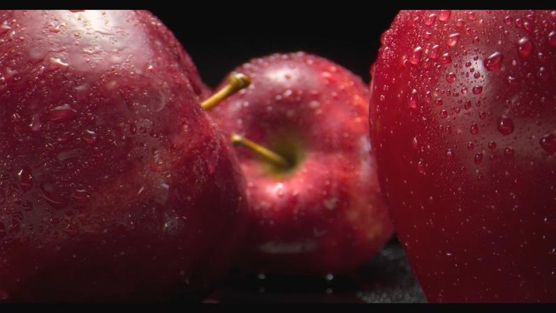 菜叶,水珠,咖啡豆,草莓,蓝莓,苹果,石榴,甜椒,精致超清微距拍摄水果视频素材视频素材