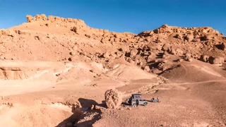 航拍,摩洛哥,沙漠,奔驰,硬汉SUV,航拍摩洛哥沙漠中奔驰硬汉G系视频素材