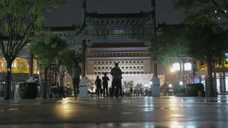 中国,旅游,景点,街道,夜晚,延时,中国旅游景点街道夜晚延时拍摄视频素材