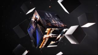 空间感强金属质感立方体相册片头