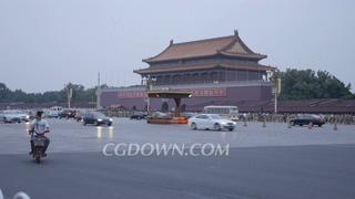 北京,长安街,天安门,北京长安街天安门一角拍摄交通实拍视频素材
