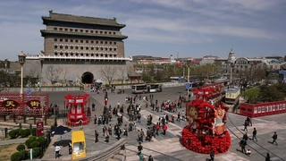 北京,正阳门,天街,城市,北京正阳门天街城市交通实拍视频素材