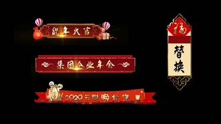 鼠年,节目,介绍,字幕,春晚,鼠年喜庆春晚节目介绍字幕版式视频素材