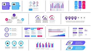 42种企业公司财务报表融资动态视频模板|INFOGRAPHICS VOL.6