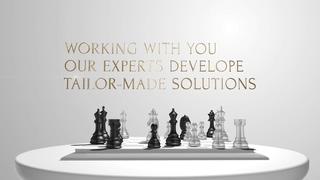 国际象棋博弈棋子移动商场谈判片头