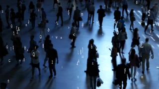 行走的人群数码文字科技生活