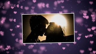 浪漫紫色心形爱情记忆相册|Lovely Slideshow 25625974视频素材影视模板