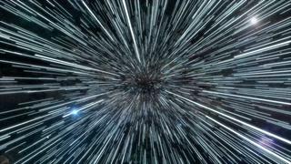 宇宙,光速,科幻,科学,飞船在宇宙中进入光速钱动画素材视频素材