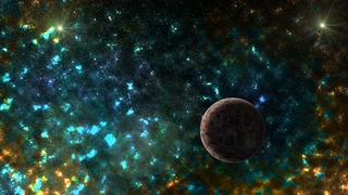 宇宙,行星,探索,星云,行星的惊人星云和太空素材通过了框架并脱离了框架视频素材