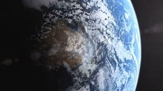 宇宙,地球,星光,太阳,在宇宙中拍摄地球视频素材