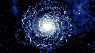 宇宙,银行,星团,宇宙深空背景银河与星团一起旋转视频素材