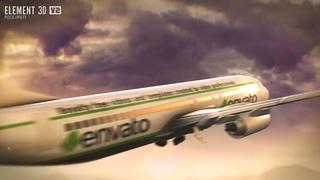 飞机,起飞,航空,logo,E3D飞机品牌航空公司片头视频素材