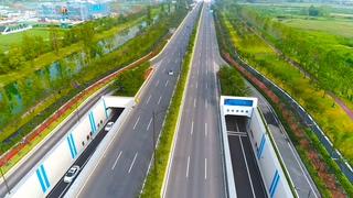 绿化,航拍,航拍城市道路测绘导台绿化视频素材