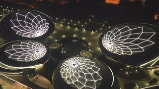 剧院,航拍,夜景,南京,航拍南京新地标江苏大剧院视频素材