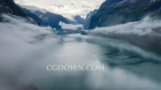 挪威,航拍,飞行,云彩,航拍飞行挪威自然风光云彩之上视频素材