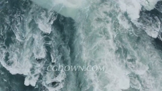失落,瀑布,航拍,悲伤,加拿大,尼加拉瓜,垂直航拍自上而下加拿大尼亚加拉大瀑布视频素材