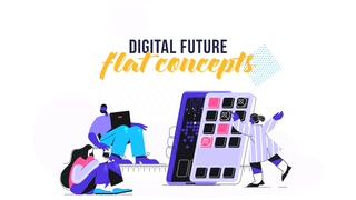 时尚,网络,在线,动漫,插画,时尚网络在线动漫插画视频素材视频素材