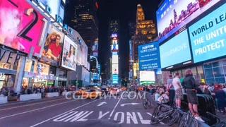 城市,美国,纽约时报广场,野外延时拍摄纽约时报广场视频素材