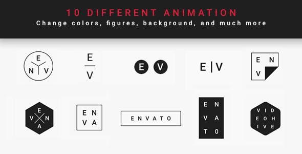 黑白,logo,片头视频素材