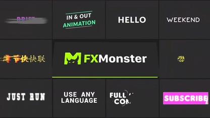 标题,字幕,片头,最新10款影视字幕标题特效板式视频素材