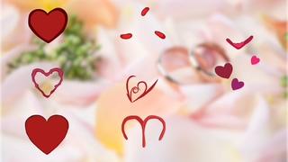 心,手绘,浪漫,手绘浪漫心形透明通道特效素材视频素材
