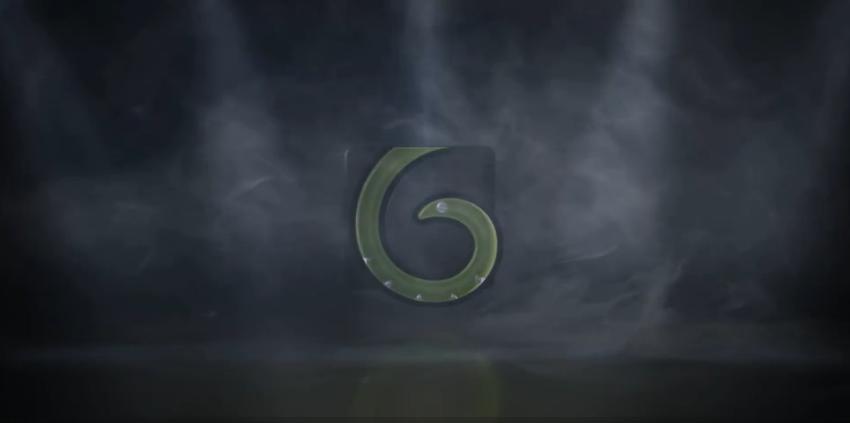 烟雾,聚光灯闪耀烟雾呈现logo片头视频素材
