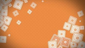 不间断跳动图形,橙色,无缝循环五