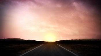 暮色,太阳,移动云朵,无缝循环五