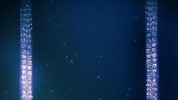 无间隙上移闪烁线条,蓝色,闪烁星星,无缝循环五