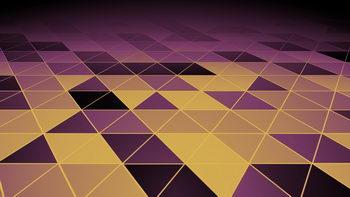 科技,神秘,不断旋转三角形,无缝循环五