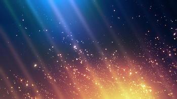 绚丽,移动线条,闪烁星星,无缝循环五