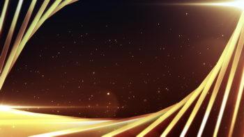 扇形旋转线条,升起的光点,无缝循环五