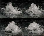高速摄影,水源,水泉,水珠,趵突泉,水分,水纹涟漪,水面