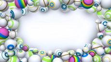 无缝循环廿二,动态的圆形球体,圆形