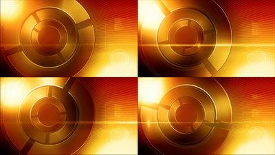 旋转,橙色,网络,科技,无缝循环十一