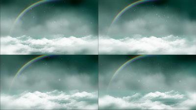 云彩之巅,彩虹,云层,下雪,岁月,无缝循环十一
