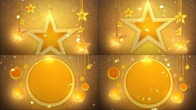 星星,金色,五角星,吊旗,促销,无缝十一视频素材
