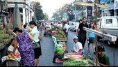 缅甸街上摆摊,缅甸