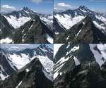 <b>山峰,雄伟,雪山,豪迈,航拍,山高人为峰,大气,白云,高山,山脉</b>