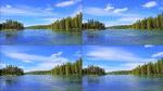 森林,湖泊,河流,蓝天,白云,时间流逝