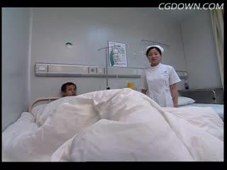 医疗,护士,盖被子,照顾病人,医院,场景,和谐
