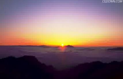 云端,自然风光,日出,太阳升起
