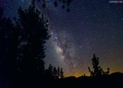 高清  大山  黑夜到白天   时间变化   星星