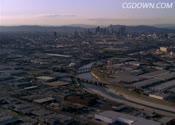 城市,全景,航拍,景色,视频素材