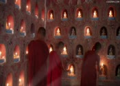 高清,和尚,寺庙,蜡烛,和尚点蜡烛,佛像