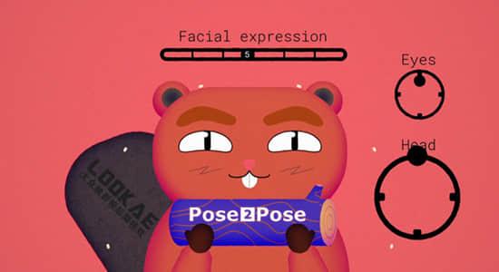 AE脚本-卡通人物面部绑定MG动画制作工具 Pose2Pose V1.1.0 + 使用教程