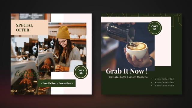时尚咖啡店促销Coffee Shop Instagram-AE模板